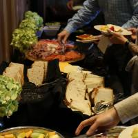 Delicious food at Laker Connections: Friends & Founders event